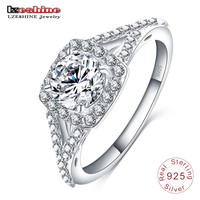 LZESHINE Fashion Brand 925 Sterling Silver Ring Engagement