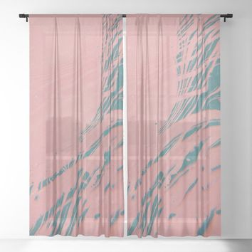 Suminagashi - shadow self Sheer Curtain by duckyb