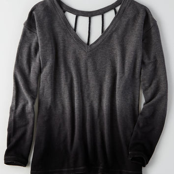 AEO Soft & Sexy Braided Strappy Sweatshirt, Olive