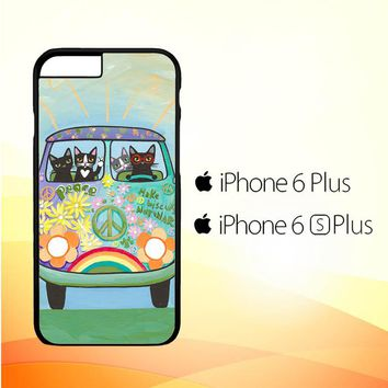 Hippie Cats Road Trip! L2171 iPhone 6 Plus|6S Plus Case