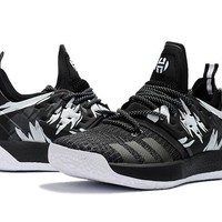 Adidas Harden Vol. 2 Black/White Graffiti Basketball Shoes US7-11.5