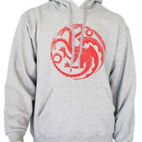 Fire and bloods House Targaryen Sigil Dragon KHALEESI Unisex Hoodie S to 3XL