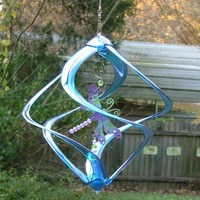 Dragonfly Blue Acrylic Wind Spinner
