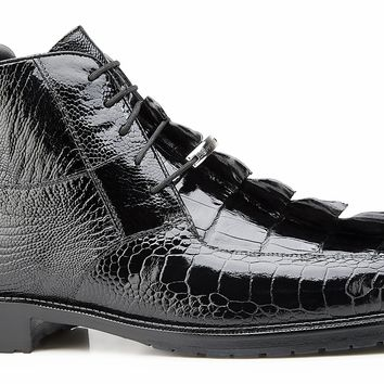 Barone Alligator And Ostrich Boot