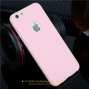 New Arrival  Pink Candy Color Case For iPhone 61 6 6s 5 5s SE 7 7 Plus