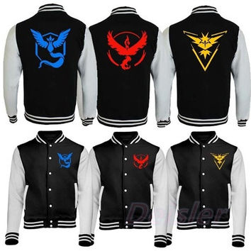 Team Instinct Mystic Valor Jacket - Pokemon Go Fan Inspired Gift Fashion Present [8834065932]