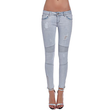 Q2 Store™ Gray Skinny Jeans with Ankle Zips