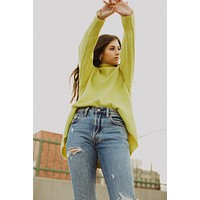 Free People: Afterglow Mock Neck Sweater