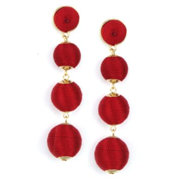 Glitzy Bubbles Earrings - Cherry