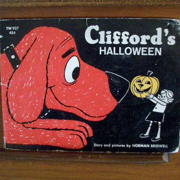 Clifford's Halloween Children's Book by Norman Bridwell Classic Big Red Dog Vintage1969 Holiday Story Book