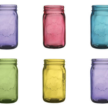 Mason Jar Set of 6 Wedding Glass Mason Jar Decor Bulk Mason Jars Mason Jar Centerpiece