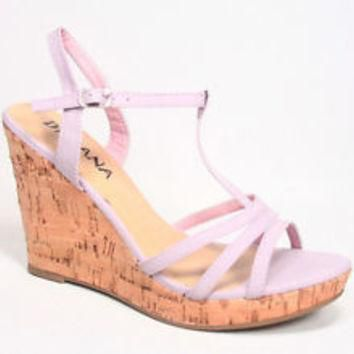 NEW Women's T-Strap Strappy Buckle Platform Wedge Sandal Shoes Size 5.5 - 10