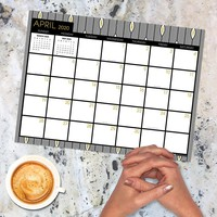Black White Gold Mini Desk Pad