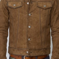 Men's Zgodan Nubuck Leather Jacket | Style and Decor