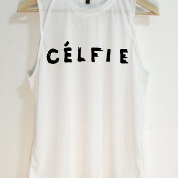 celfie - celine paris - shirt unisex shirt - Tank top - Tshirt - Made from TK fabric - screen on fabric