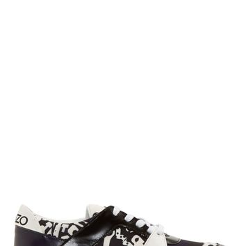 Kenzo Back And Purple Monster Sneakers