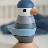 Sebra Stacking bird wood - royal blue
