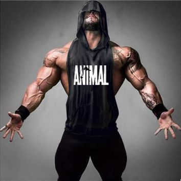 Fitness Stringer Hoodies Muscle Shirt Bodybuilding Clothing Gyms Tank Top Men Sporting Sleeveless T shirts