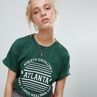 Daisy Street T-Shirt With Atlanta Print at asos.com