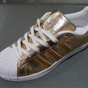 """Adidas"" Superstar Shell toe Rose Gold Casual Sneakers"