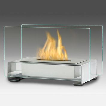 Eco-Feu Toulouse Table Top Ethanol Fireplace - Stainless Steel (TT-00142-SS)