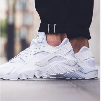 """NIKE""AIR Huarache Fashion Trending Running Sport Casual Shoes Sneakers White G"