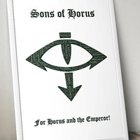 Sons of Horus Pre-Heresy, Warhammer 40K- Printable Poster - Digital Art - Download and Print
