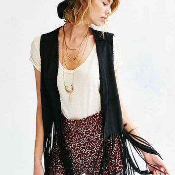 BLANKNYC Friday Fever Fringe Vest