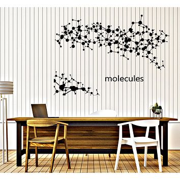 Large Vinyl Decal Abstract Molecules Medical Background Wall Sticker Unique Gift (n636)