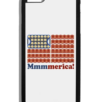 American Breakfast Flag - Bacon and Eggs - Mmmmerica Black Dauphin iPhone 6 Plus Cover by TooLoud