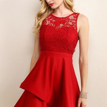 Anastasia Lace Fit and Flare Dress - FINAL SALE