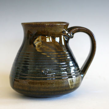 Coffee Mug Pottery, 17 oz,  unique coffee mug, handmade ceramic cup, handthrown mug, stoneware mug, wheel thrown pottery mug, ceramics