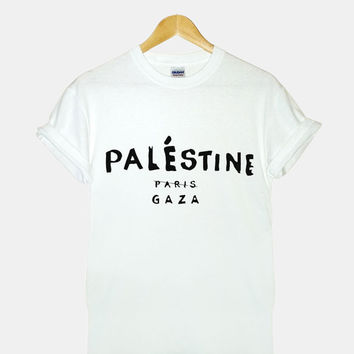 Palestine Celine Paris Screenprint gildan G200l ultra cotton t shirt for woman
