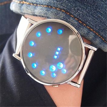 LED Electronic Watch Stainless Steel Digital Watch