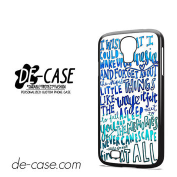 5 Seconds Of Summer Lyrics Amnesia 5SOS For Samsung Galaxy S4 Case Phone Case Gift Gift Present