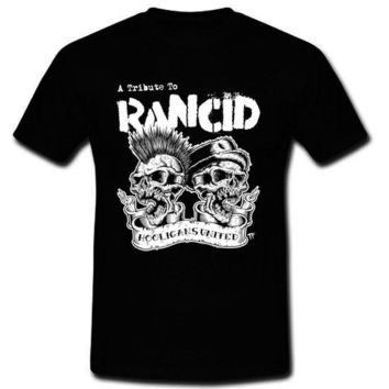 RANCID Punk Rock Band A Tribute To RANCID Hooligans United Men's T-shirt Tee (S-2XL)