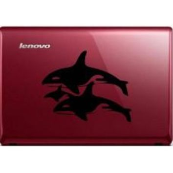 Killer Whale Family Automobile Tablet Decal Tablet PC Sticker Wall Laptop mobile truck Notebook macbook Iphone Ipad Car Window Decal