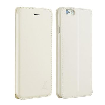 For Apple iphone 6 6s Leather Case,4.7 inch Protective Folio Case Flip Cover Back Stand(White)