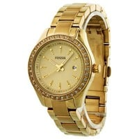 Fossil Stella Mini Three Hand Stainless Steel Watch Gold-Tone Es3107