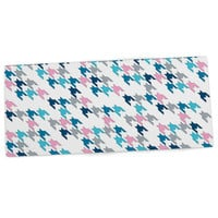 "Project M ""Pink Tooth"" Blush Blue Desk Mat"
