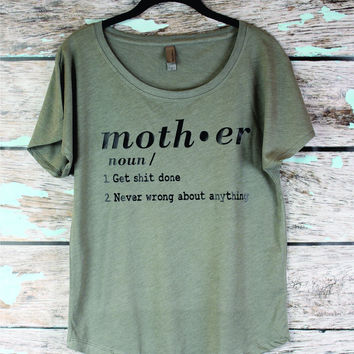 Funny Mom Shirt. Mothers Day shirt, Gift from The Workout