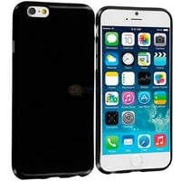 For Apple iPhone 6 Plus 5.5 TPU Rubber Case Cover High Gloss Black