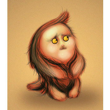 Gluby Says Don't Be Scared - Brown Back Wall Art | Artist : Nitin Kapoor