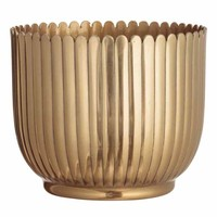Large metal plant pot - Gold-coloured - Home All | H&M GB