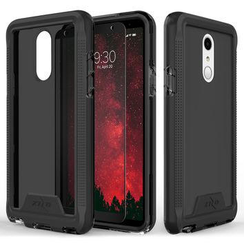 Zizo ION Case for LG Stylo 4, Military Grade Drop Tested + Tempered Glass Screen Protector