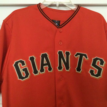 Sale!! Vintage SF San Francisco Giants baseball jersey MLB shirt size Large Free US shipping
