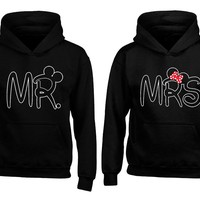 Mr & Mrs Couple Matching Hoodies