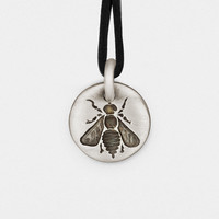 Bee Charm Pendant in Sterling Silver