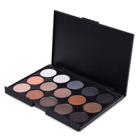 Natural 15 Colors Pearly Eyeshadow Palette Makeup Cosmetics