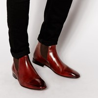 Rolando Sturlini Leather Short Chelsea Boots